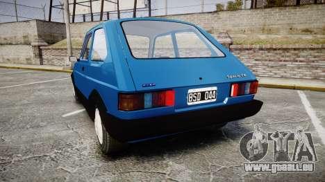 Fiat 147 Spazio-TR für GTA 4 hinten links Ansicht
