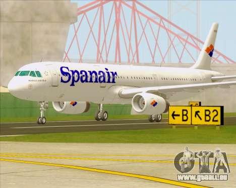 Airbus A321-231 Spanair für GTA San Andreas rechten Ansicht