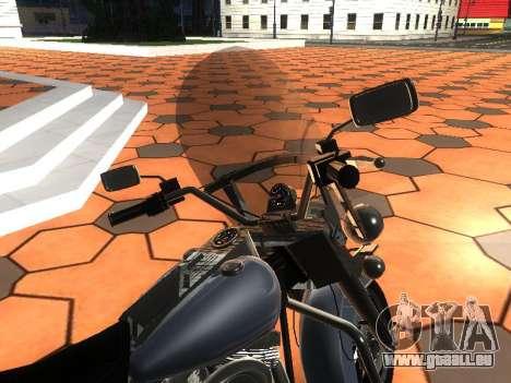 Harley Davidson Road King pour GTA San Andreas vue arrière