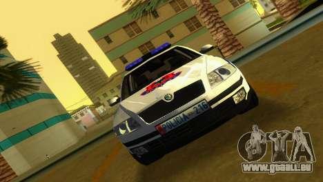 Skoda Octavia Albanian Police Car pour GTA Vice City sur la vue arrière gauche