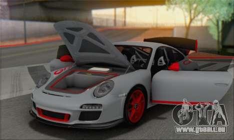Porsche 911 GT3 2010 pour GTA San Andreas vue de dessous