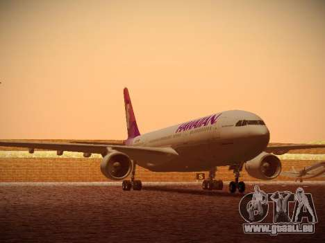Airbus A330-200 Hawaiian Airlines für GTA San Andreas linke Ansicht