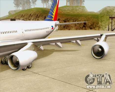 Airbus A340-313 Philippine Airlines für GTA San Andreas Räder