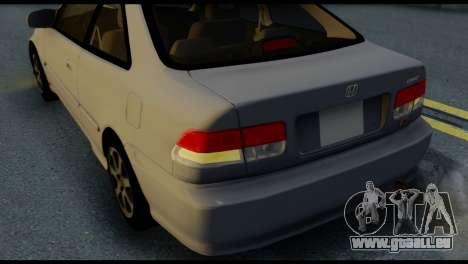 Honda Civic Si 1999 pour GTA San Andreas vue de côté