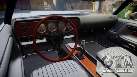 Dodge Challenger 1971 v2.2 PJ5 für GTA 4 Rückansicht