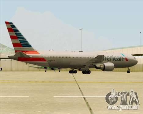 Boeing 767-323ER American Airlines pour GTA San Andreas moteur