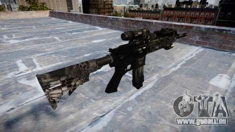 Automatische Gewehr Colt M4A1 kryptek typhon für GTA 4 Sekunden Bildschirm
