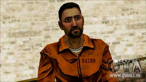 Danny from The Walking Dead: 400 Days für GTA San Andreas dritten Screenshot