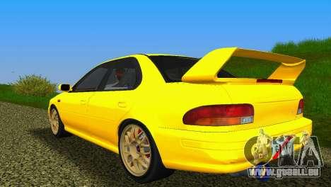 Subaru Impreza WRX STI GC8 Sedan Type 1 pour une vue GTA Vice City de la droite