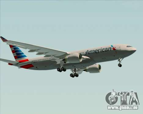 Airbus A330-200 American Airlines pour GTA San Andreas vue intérieure