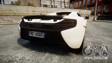 McLaren 650S Spider 2014 [EPM] Bridgestone v3 pour GTA 4 Vue arrière de la gauche