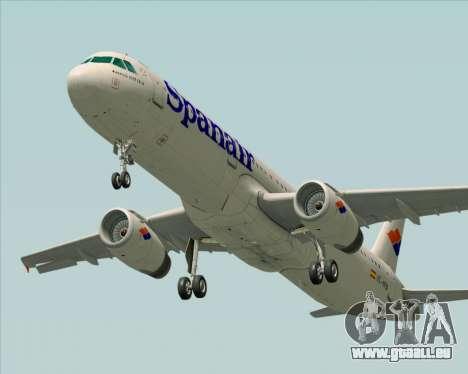 Airbus A321-231 Spanair für GTA San Andreas Unteransicht