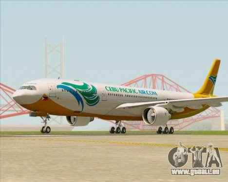 Airbus A330-300 Cebu Pacific Air für GTA San Andreas linke Ansicht