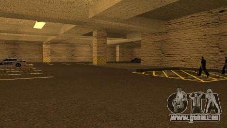 De nouvelles textures Parking dans la LSPD pour GTA San Andreas quatrième écran