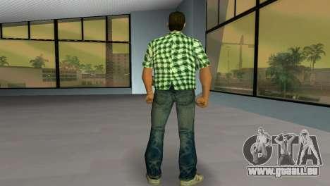 Kockas polo - zold T-Shirt für GTA Vice City dritte Screenshot