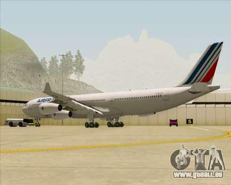Airbus A340-313 Air France (New Livery) für GTA San Andreas rechten Ansicht