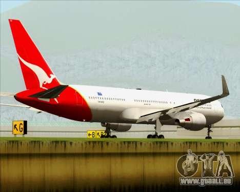 Boeing 767-300ER Qantas pour GTA San Andreas sur la vue arrière gauche