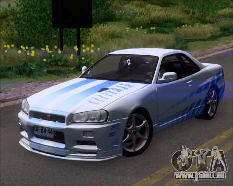 Nissan Skyline GT-R R34 V-Spec II für GTA San Andreas Innen