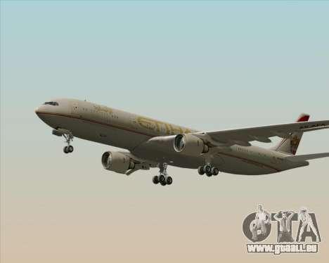 Airbus A330-300 Etihad Airways für GTA San Andreas Innenansicht