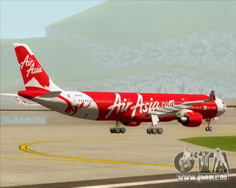 Airbus A330-300 Air Asia X für GTA San Andreas Rückansicht