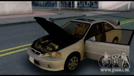 Honda Civic Si 1999 für GTA San Andreas Unteransicht