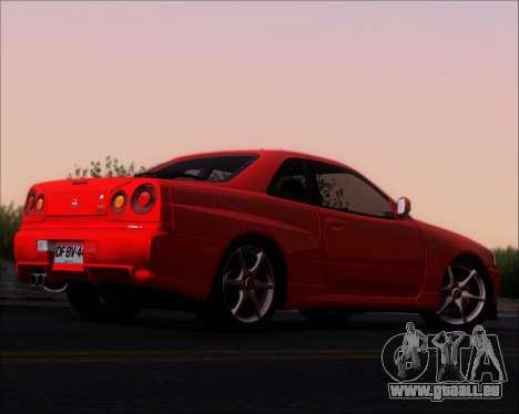 Nissan Skyline GT-R R34 V-Spec II für GTA San Andreas rechten Ansicht