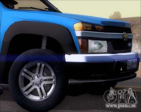 Chevrolet Colorado pour GTA San Andreas moteur