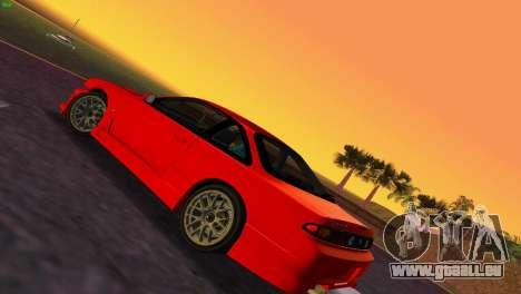 Nissan Silvia S14 RB26DETT Black Revel pour GTA Vice City sur la vue arrière gauche