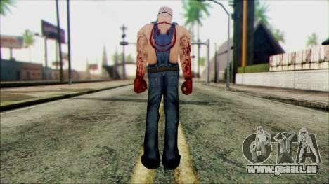 Manhunt Ped 15 pour GTA San Andreas deuxième écran