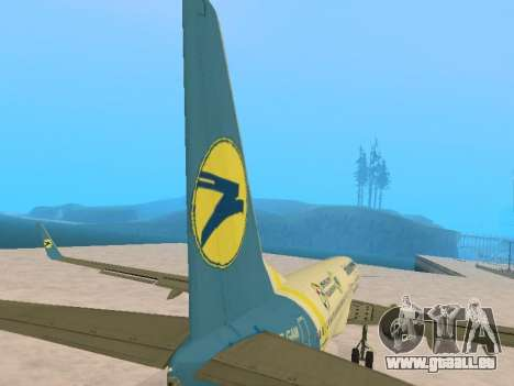 Boeing 737-84R Ukraine International Airlines pour GTA San Andreas vue de dessus