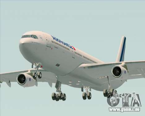 Airbus A340-313 Air France (New Livery) pour GTA San Andreas vue arrière