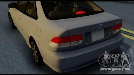 Honda Civic Si 1999 pour GTA San Andreas vue de dessus