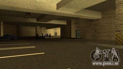 De nouvelles textures Parking dans la LSPD pour GTA San Andreas troisième écran