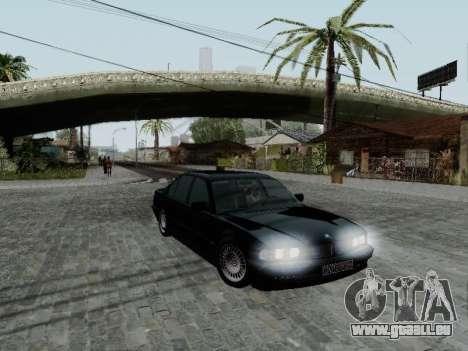 BMW 760i E38 pour GTA San Andreas laissé vue