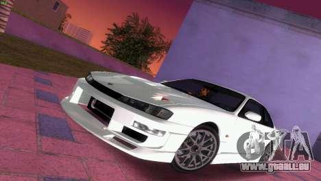 Nissan Silvia S14 RB26DETT Black Revel pour GTA Vice City vue de dessous
