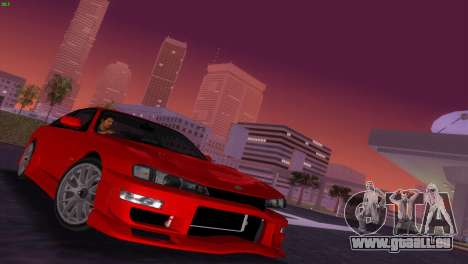 Nissan Silvia S14 RB26DETT Black Revel pour une vue GTA Vice City de l'intérieur