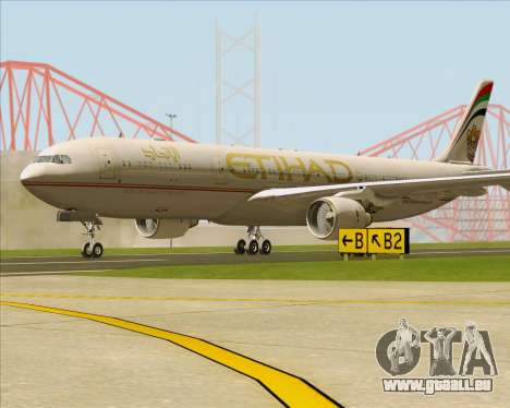 Airbus A330-300 Etihad Airways pour GTA San Andreas sur la vue arrière gauche