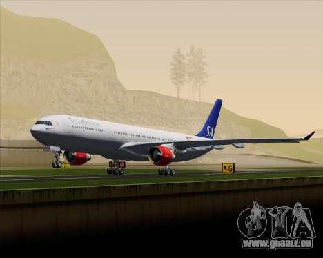 Airbus A330-300 Scandinavian Airlines System. pour GTA San Andreas vue de dessus