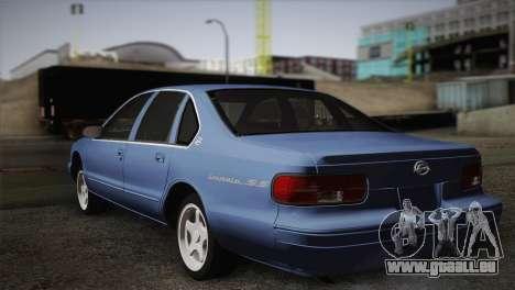 Chevrolet Impala 1996 pour GTA San Andreas laissé vue