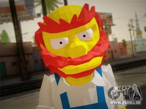 Le Gardien Willy De The Simpsons: Road Rage) pour GTA San Andreas troisième écran