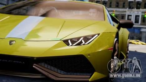 Lamborghini Huracan LP610-2 Valentino Balboni pour GTA 4 Vue arrière