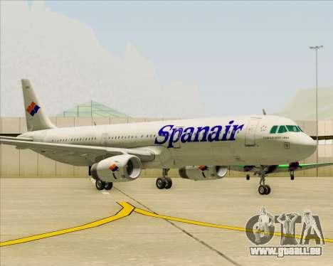 Airbus A321-231 Spanair für GTA San Andreas linke Ansicht