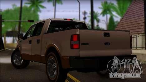 Ford F-150 2005 pour GTA San Andreas laissé vue