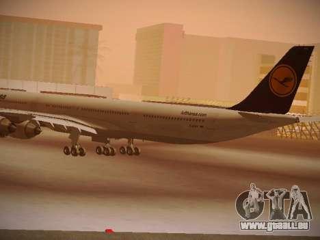 Airbus A340-600 Lufthansa für GTA San Andreas Rückansicht