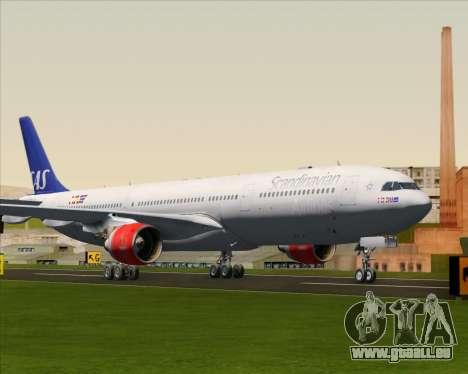 Airbus A330-300 Scandinavian Airlines System. pour GTA San Andreas laissé vue