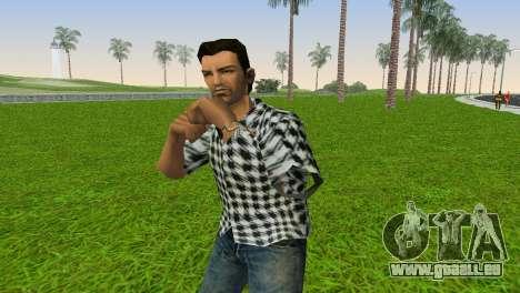 Kockas polo - fekete T-Shirt für GTA Vice City zweiten Screenshot