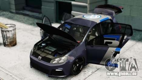 Volkswagen Golf R 2010 Polo WRC Style PJ2 für GTA 4 rechte Ansicht