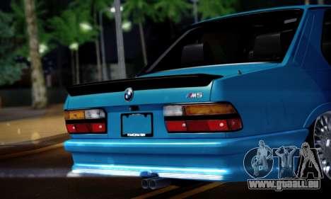 BMW M5 E28 pour GTA San Andreas vue de droite