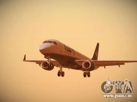 Embraer E190 Azul Brazilian Airlines pour GTA San Andreas laissé vue