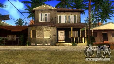 Neue HD-Texturen Häuser auf der grove street v2 für GTA San Andreas achten Screenshot